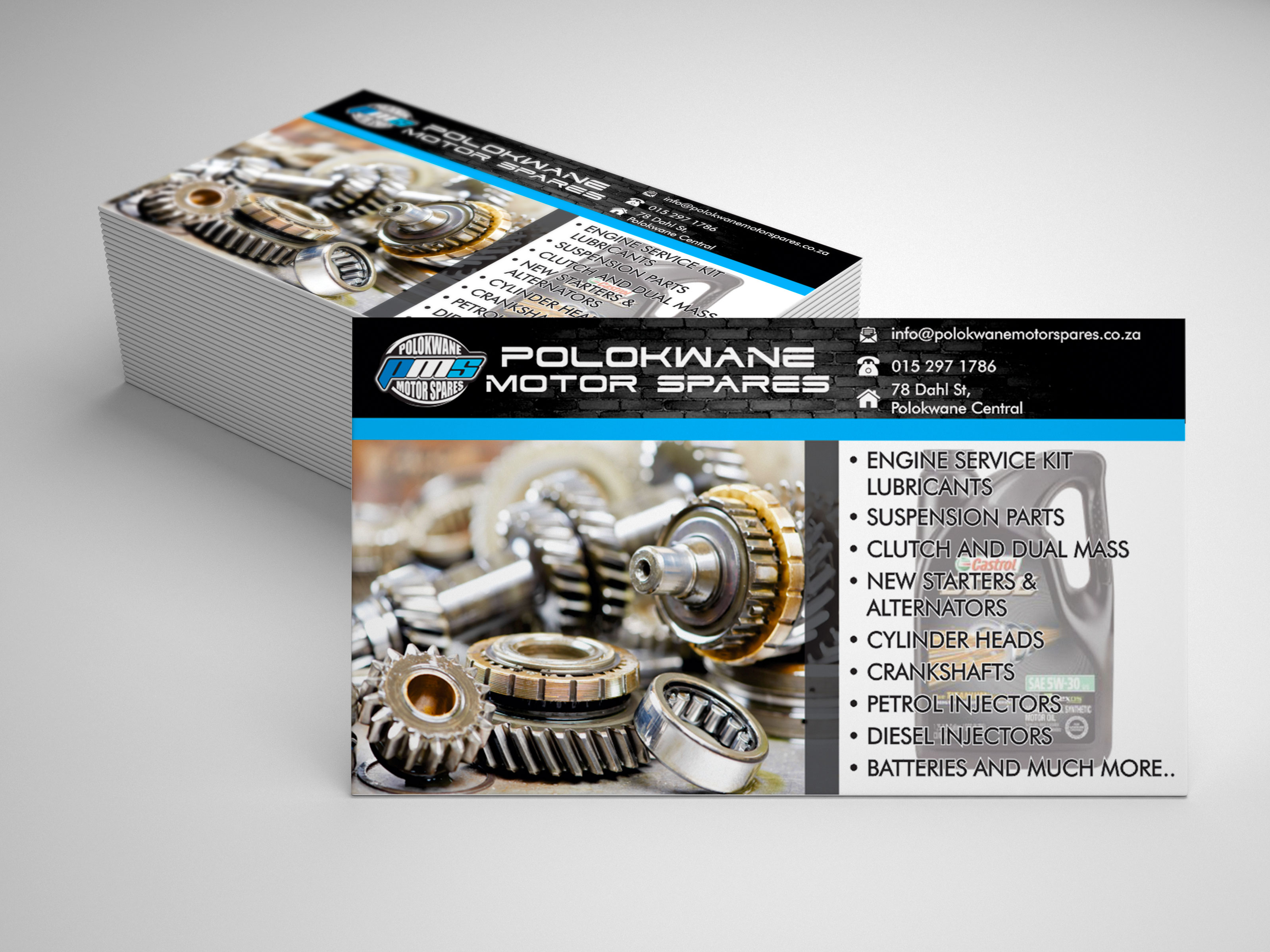 Polokwane motor spares business cards intense creations project details reheart Gallery