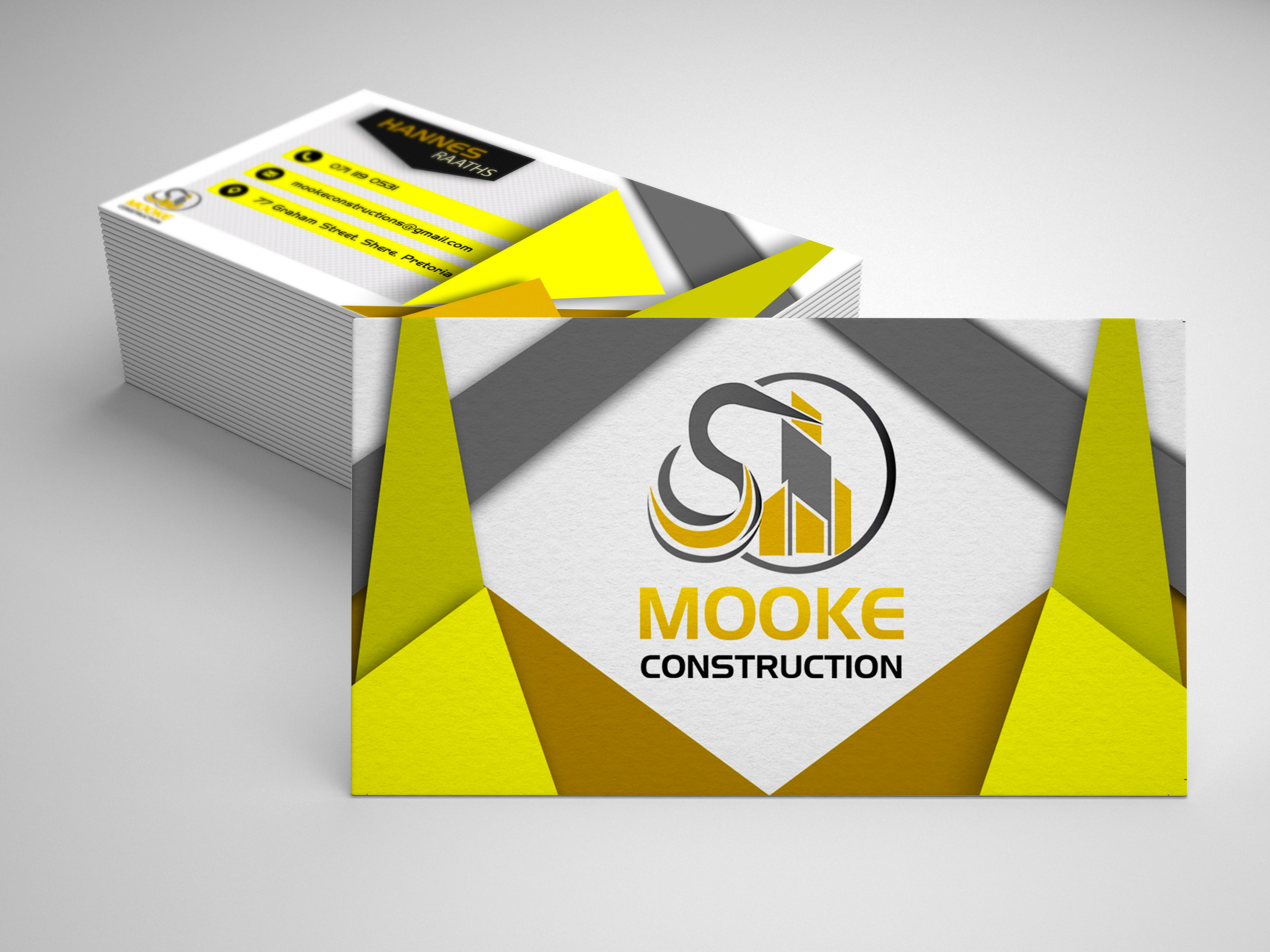 Mooke construction business card intense creations project details reheart Gallery